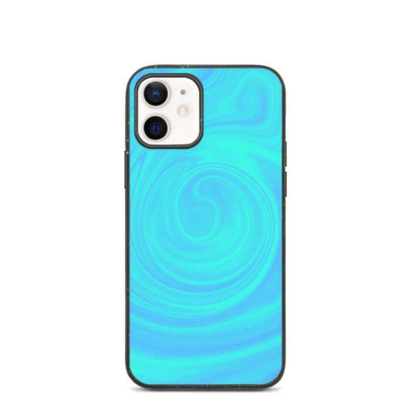 Aqua blue environmentally sustainable phone case