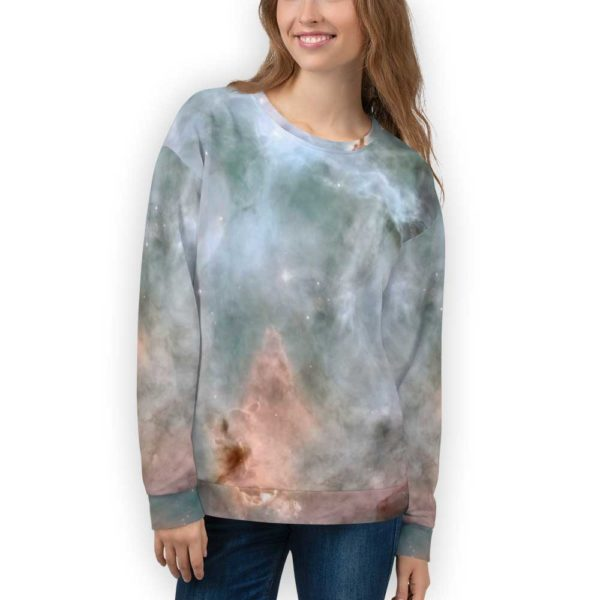 Teal and Beige Galaxy Sweatshirt for Adults - Stardust Central