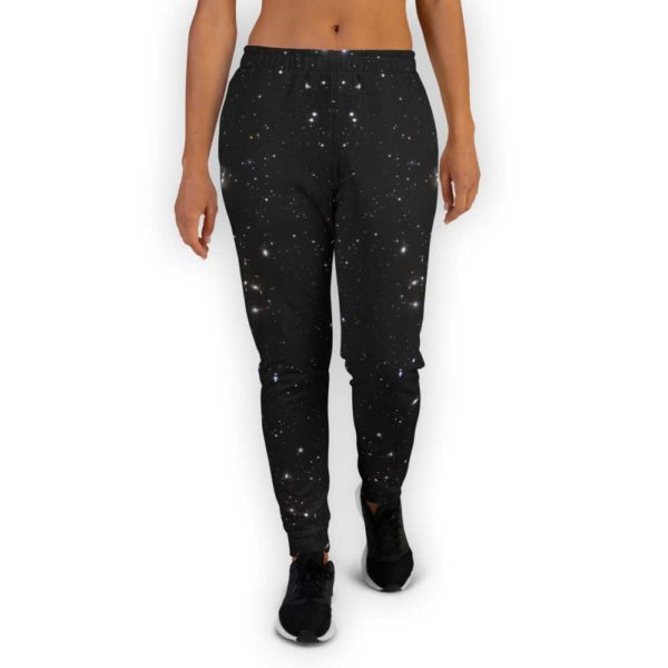 Black galaxy joggers