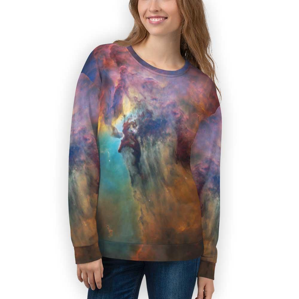 Rainbow Galaxy Sweatshirt for Adults